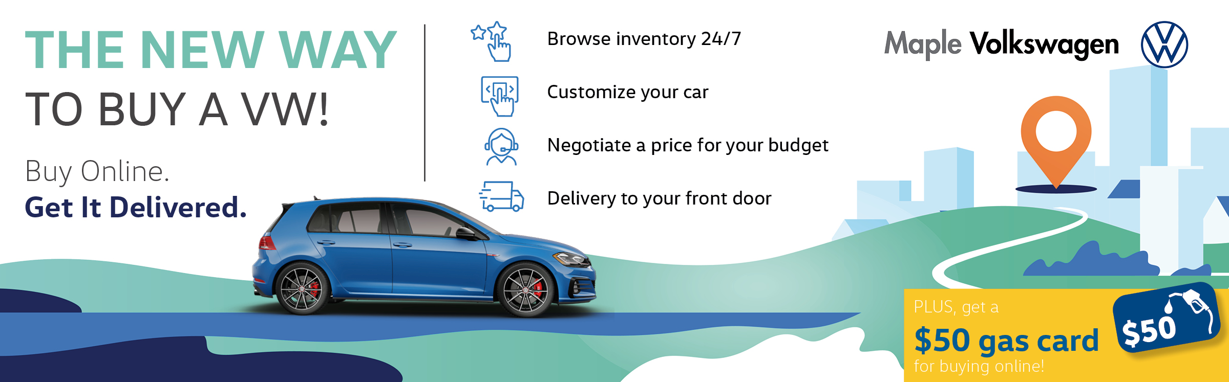 Buy Your Next Car Online with Maple VW