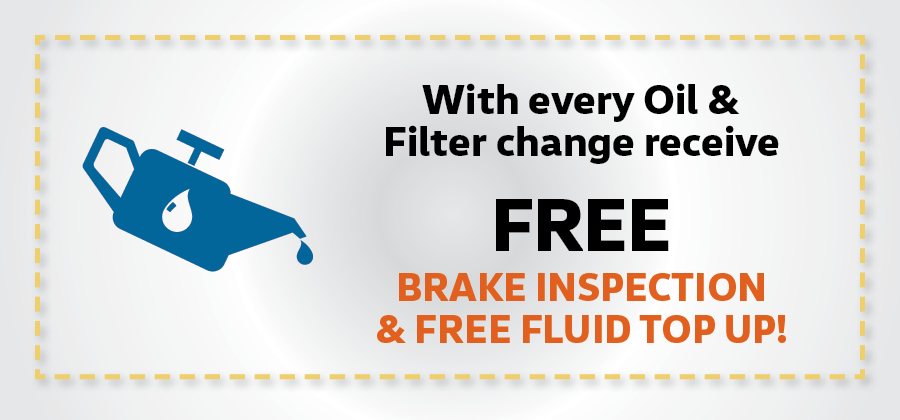 Free Brake Inspection and Fluid Top Up!