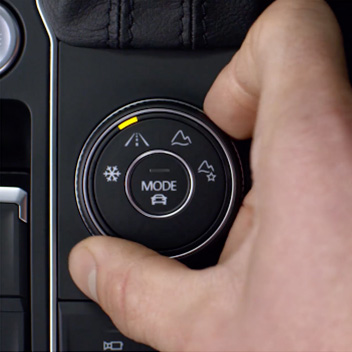 On road mode for the 2019 Volkswagen Tiguan
