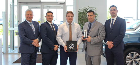 Milton Volkswagen Team receives Awards