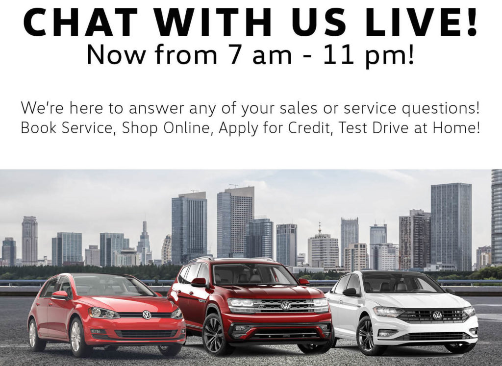 Milton Volkswagen Chat With Us Live Mobile Popup