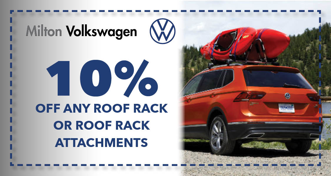 10% off any roof rack or roof rack attachments