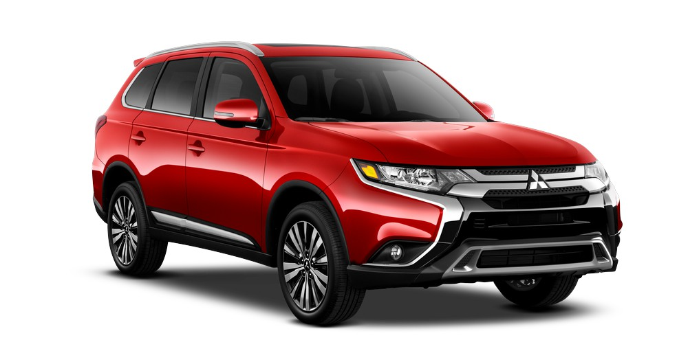 2019 Mitsubishi Outlander ES AWC Premium in Rally Red jellybean