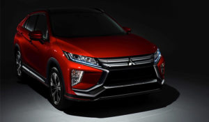 Eclipse Cross in red parked in the shadows