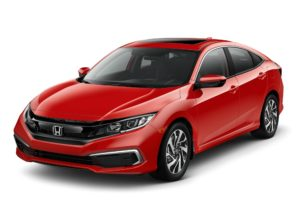 Red Honda Civic EX