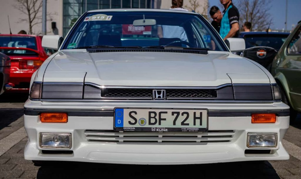 Honda Prelude oldtimer car at the 2018 Retro Season Opener meeting and show.