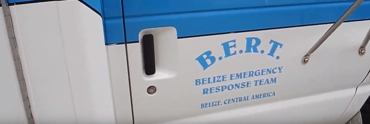 BERT lettering on the side of an ambulance