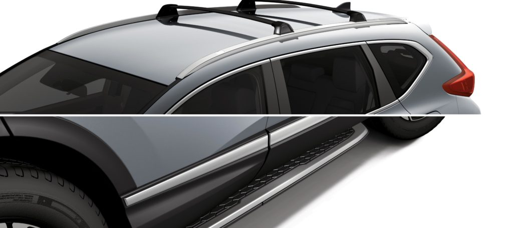 roof rack and running boards on a honda cr-v