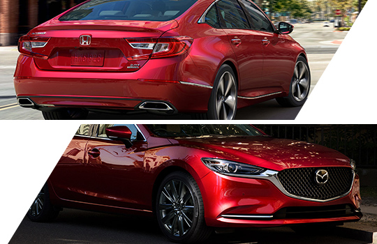 Design Interior difference between Honda Accord and Mazda 6