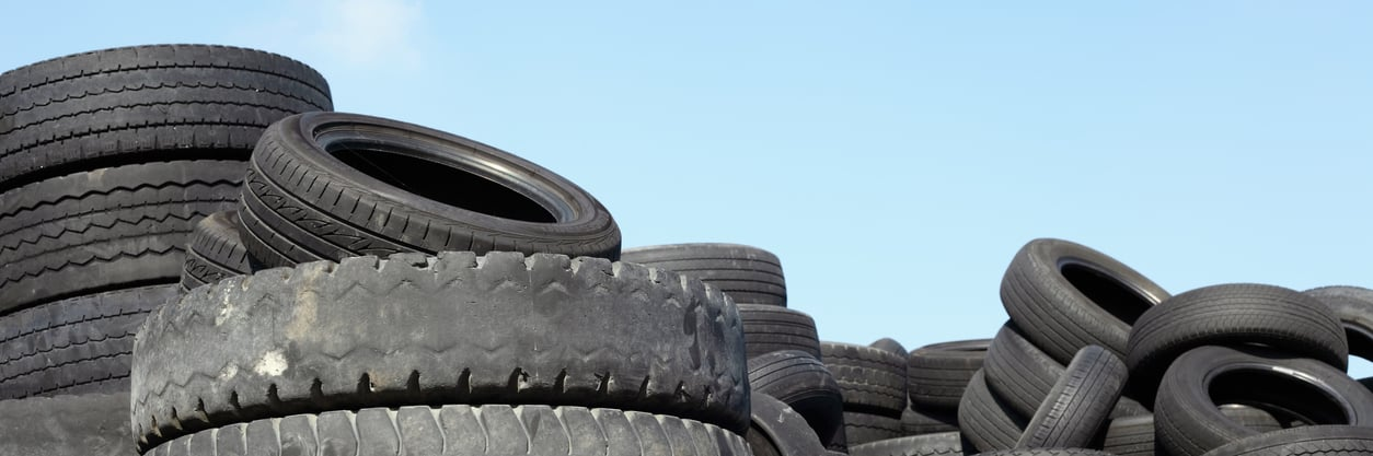 A pile of really old tires