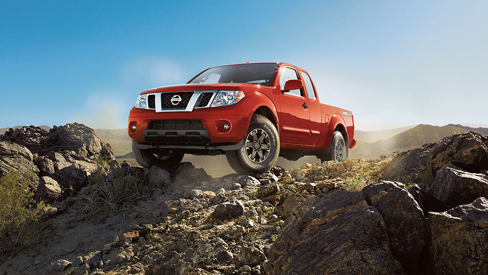 Nissan Frontier® PRO-4X® King Cab shown in Cayenne Red Metallic.