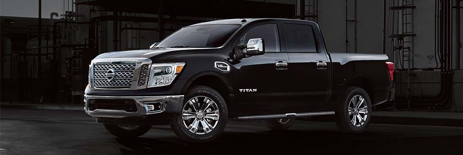 Front side angled view of the Nissan Titan