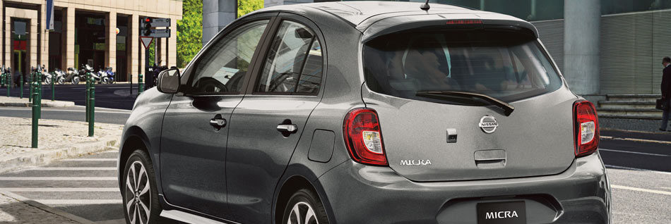 2019 Nissan Micra rear with chrome exhaust