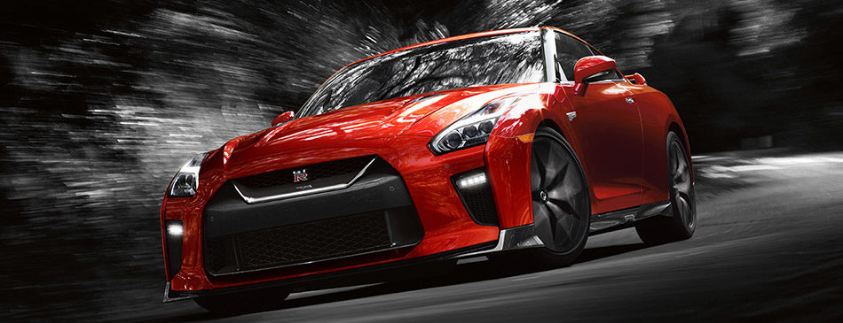 2019 nissan gt-r in solid red