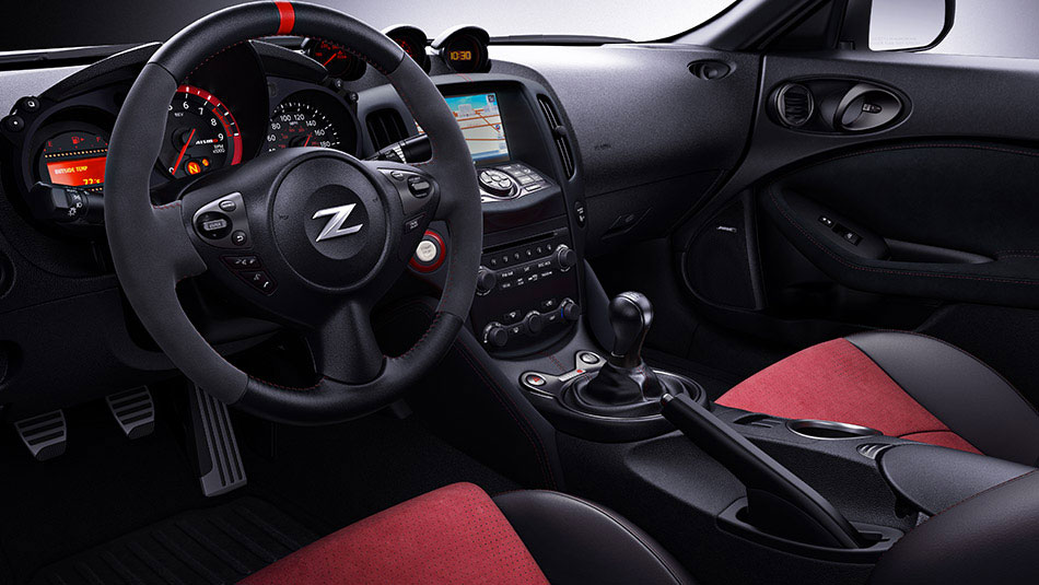 Nissan 370Z® NISMO shown in Black/Red Cloth