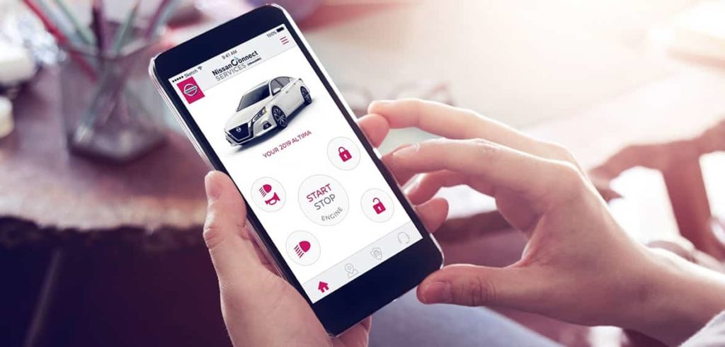 NissanConnect Services app displaying the Remote Services feature