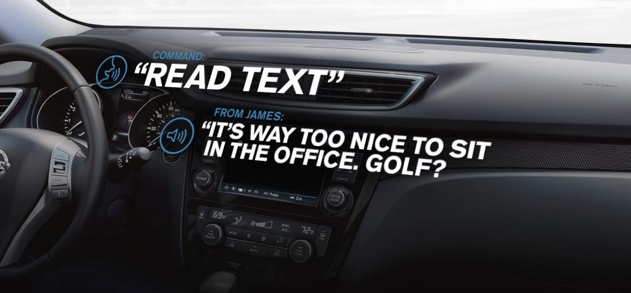 nissanConnect with read text functionality displayed