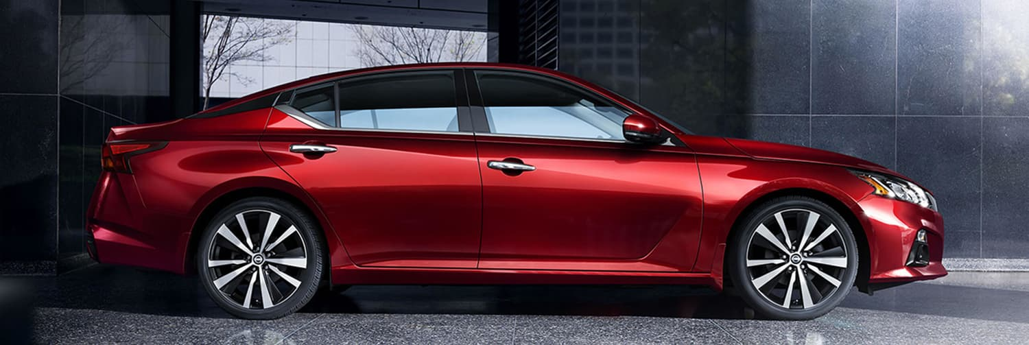 2019 Nissan Altima All-Wheel Drive 4-Door Sedan in red