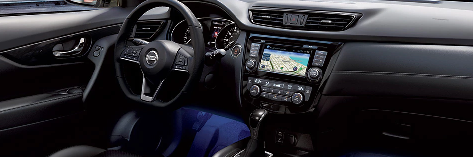 Interior of 2020 Nissan Rogue, featuring NissanConnect infotainment