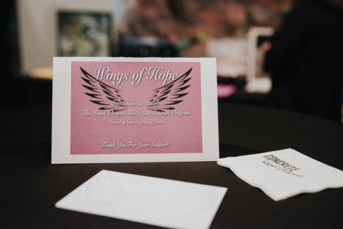 wings of hope gala invitation