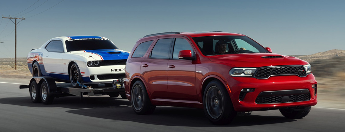 The 2021 Durango has exceptional towing capabilities for an SUV comparible a pickup truck.
