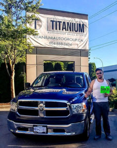happy customer with RAM truck