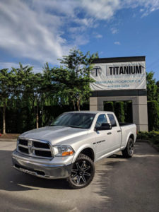 RAM 1500 truck with silver exterior