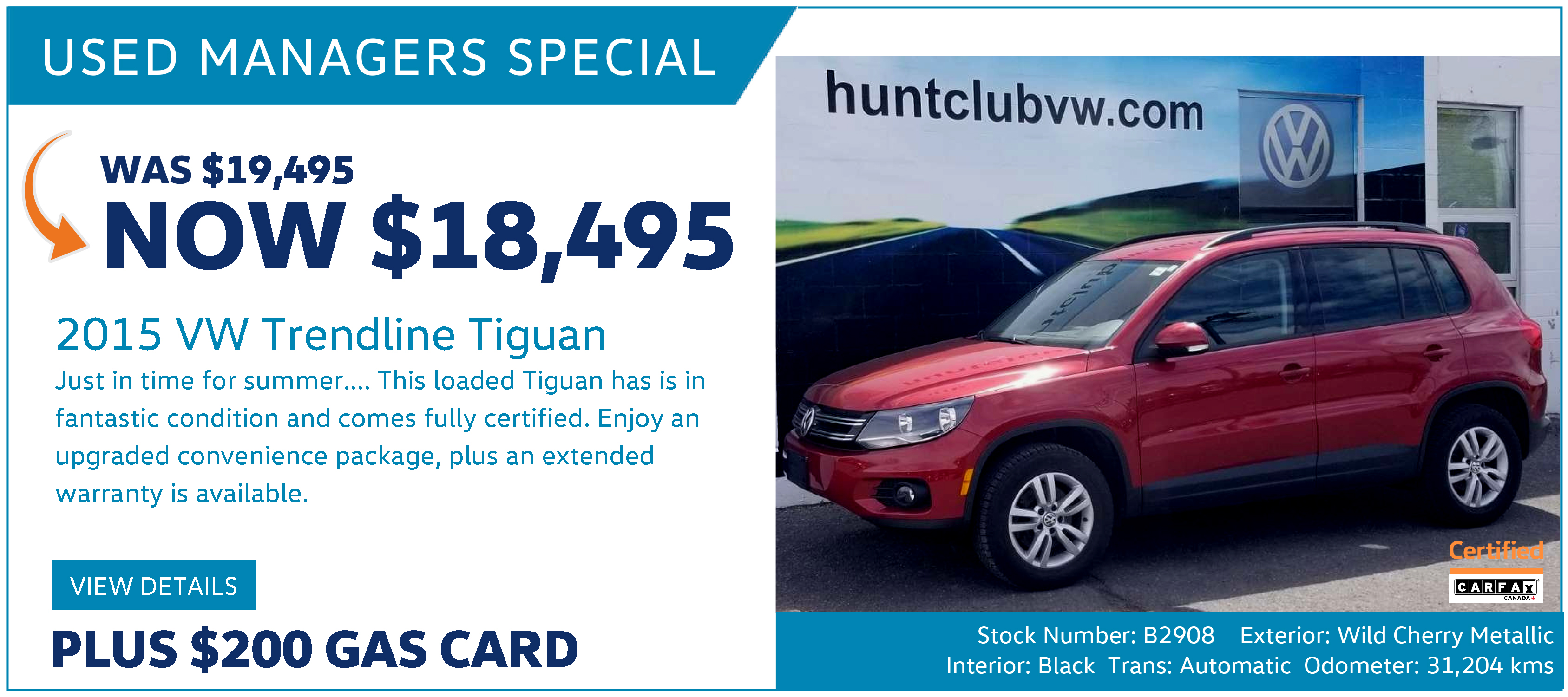 Managers Special Web - Hunt Club Volkswagen