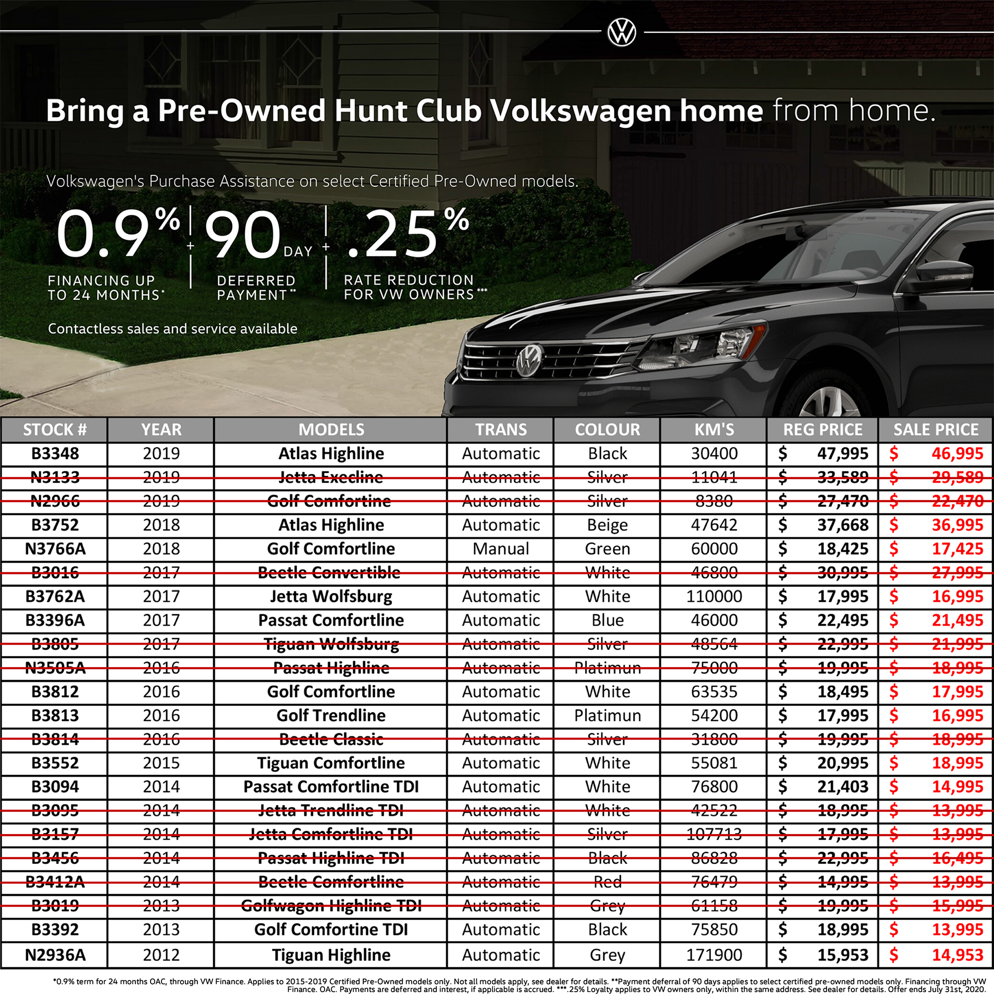 Volkswagen pre-owned sale hunt club vw ottawa