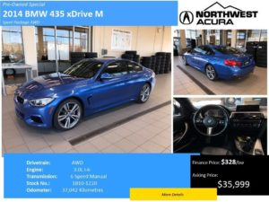 Preowned BMW 435 model