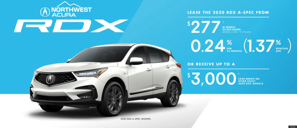 Acura RDX offer