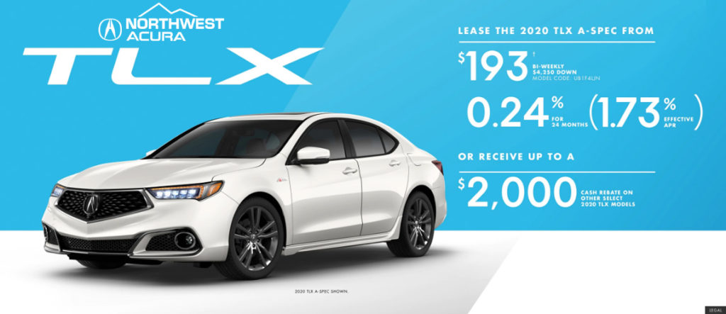 October Acura TLX offer