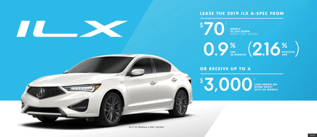 October 2019 Acura ILX offer