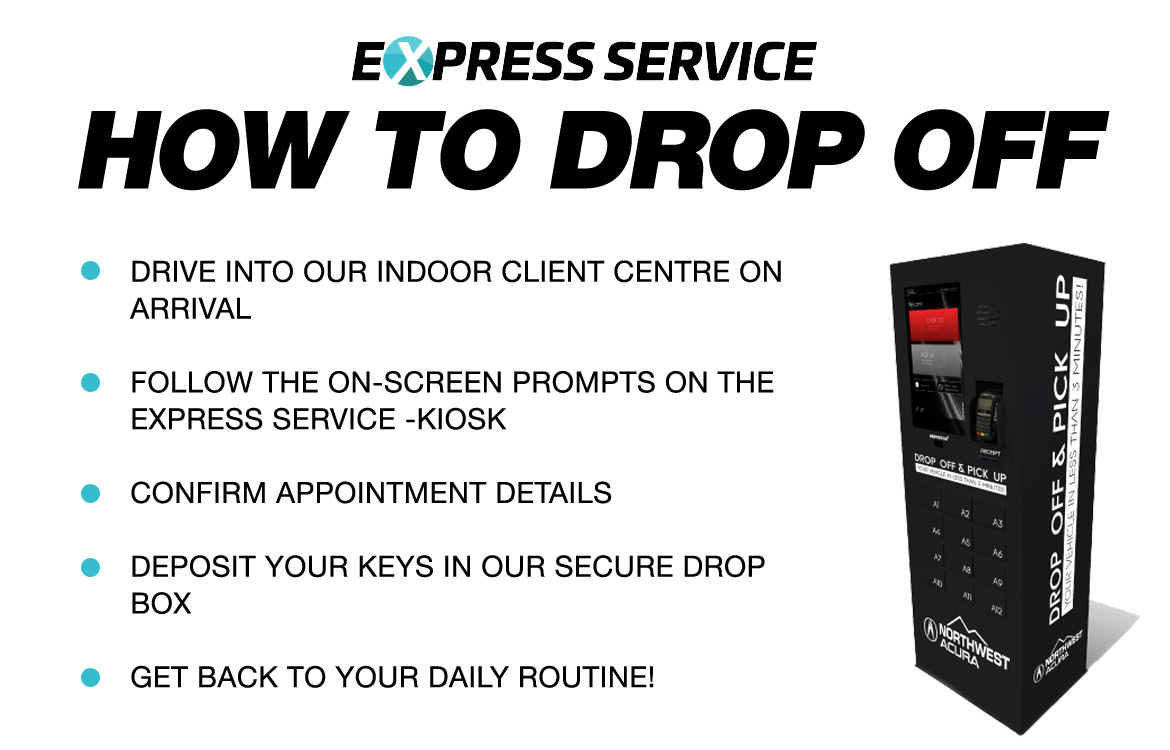 Express Service for Your Acura in Calgary | How To Drop Off