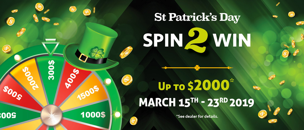 St. Patrick's Day Spin 2 Win