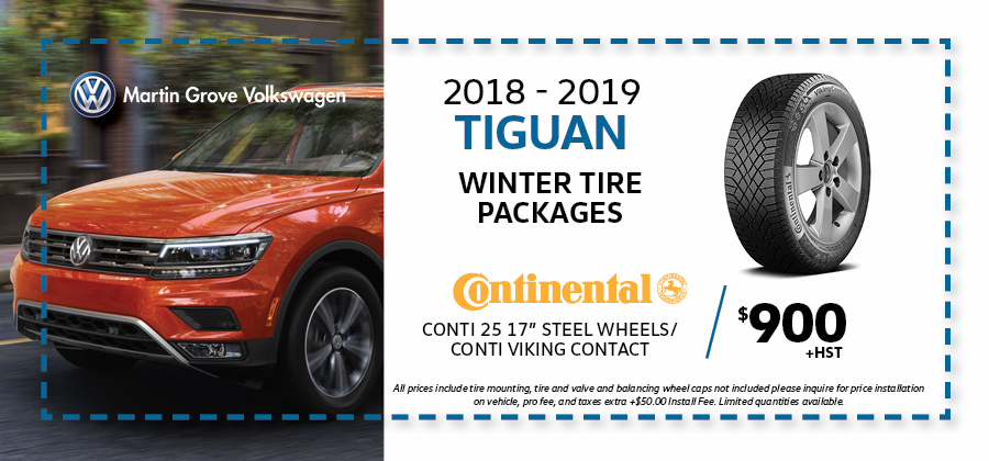 Tiguan Winter Tire Packages Martin Grove Volkswagen