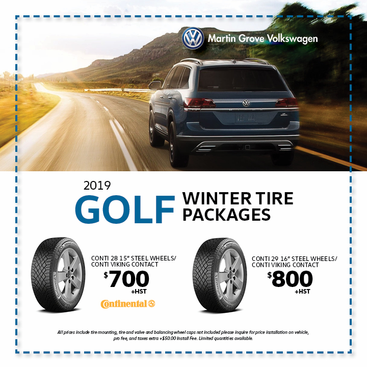 Golf Winter Tire Packages Martin Grove Volkswagen