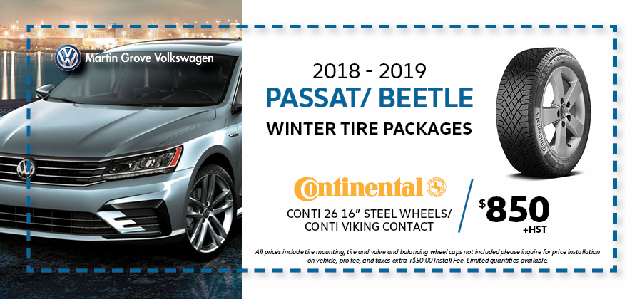 Passat and Beetle Winter Tire Packages at Martin Grove Volkswagen