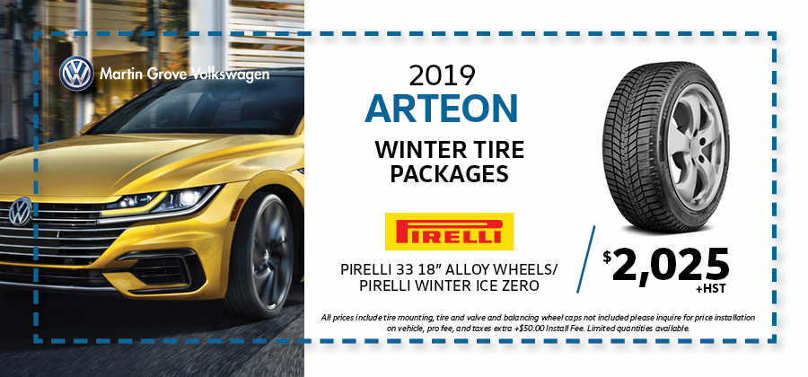 Arteon Winter tire Packages Martin Grove Volkswagen