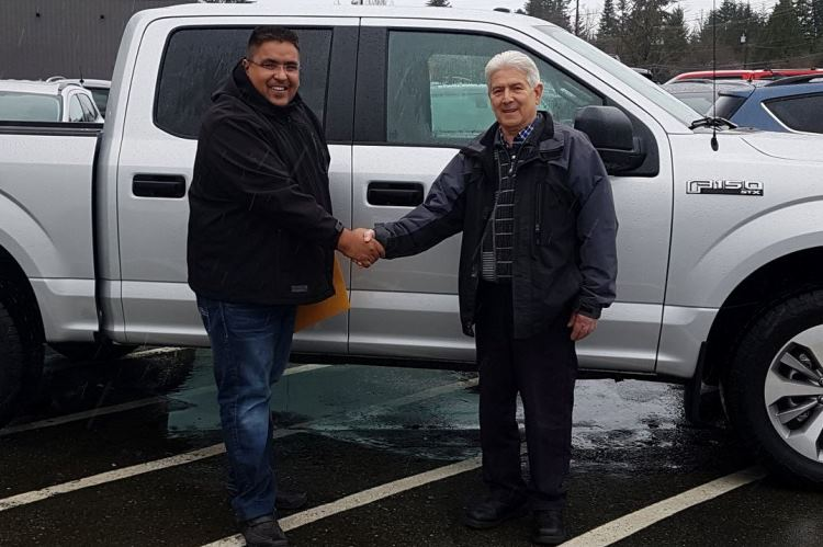 Austin with Mike 2018 Ford F150-STX