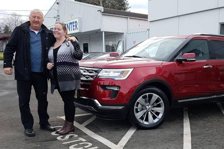 Heather with Al 2019 Ford Explorer