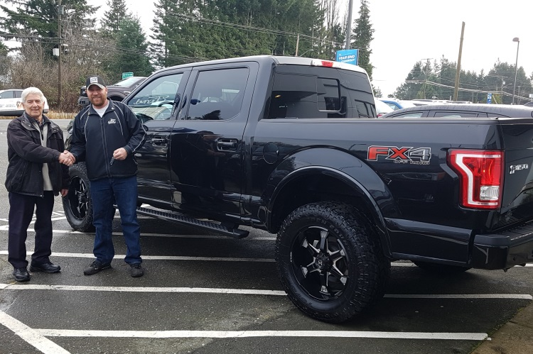 Jeff with Mike 2018 Ford F150 FX4 and West Coast Off Road Package