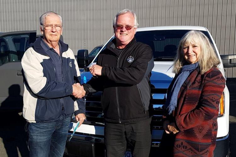 Mr Mrs Winter with Sean 2012 Ford F150