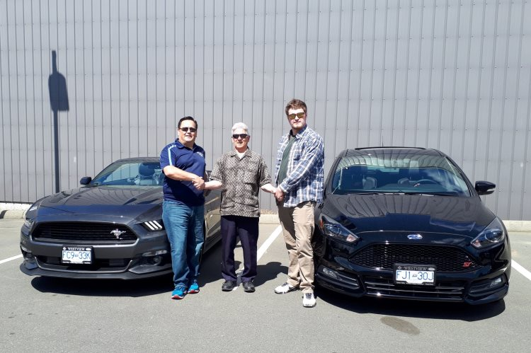 Ray and Connor with Mike Mustang GT and Focus ST