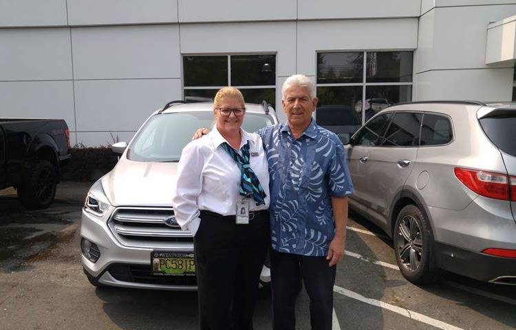 Tammie with Mike 2018 Ford Escape