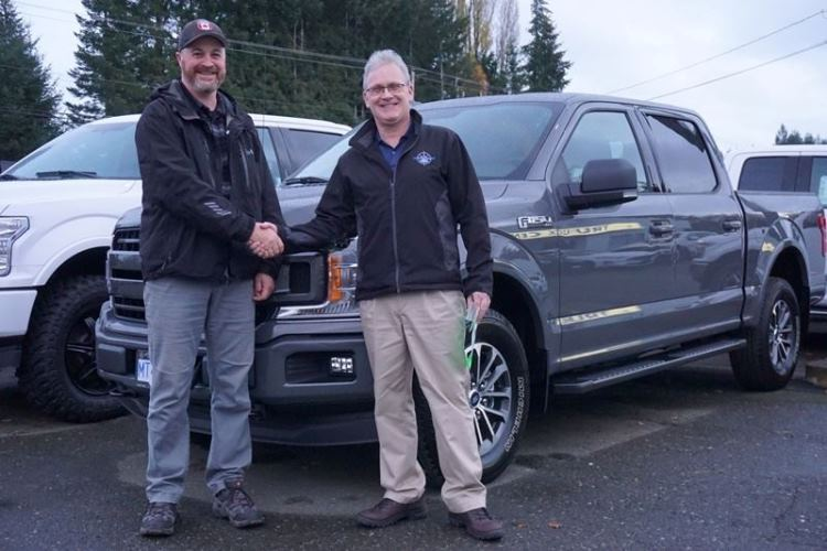 Tim with Peter 2018 Ford F150