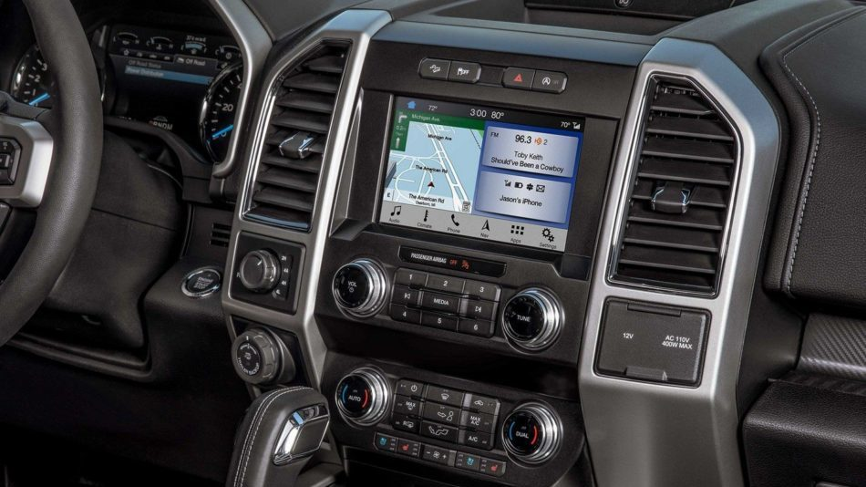 The centre panel of the Ford F-150 infotainment centre