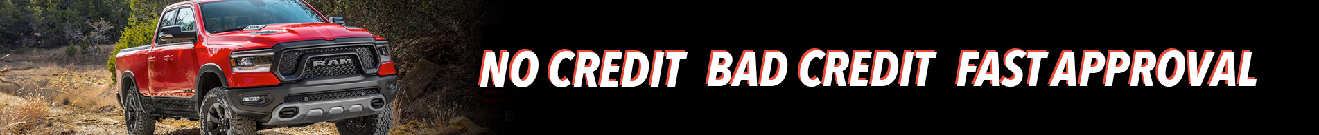 Bad Credit No Credit Fast Approval Banner