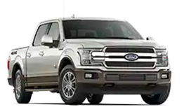 2019 F 150 King Ranch in front three quarter view