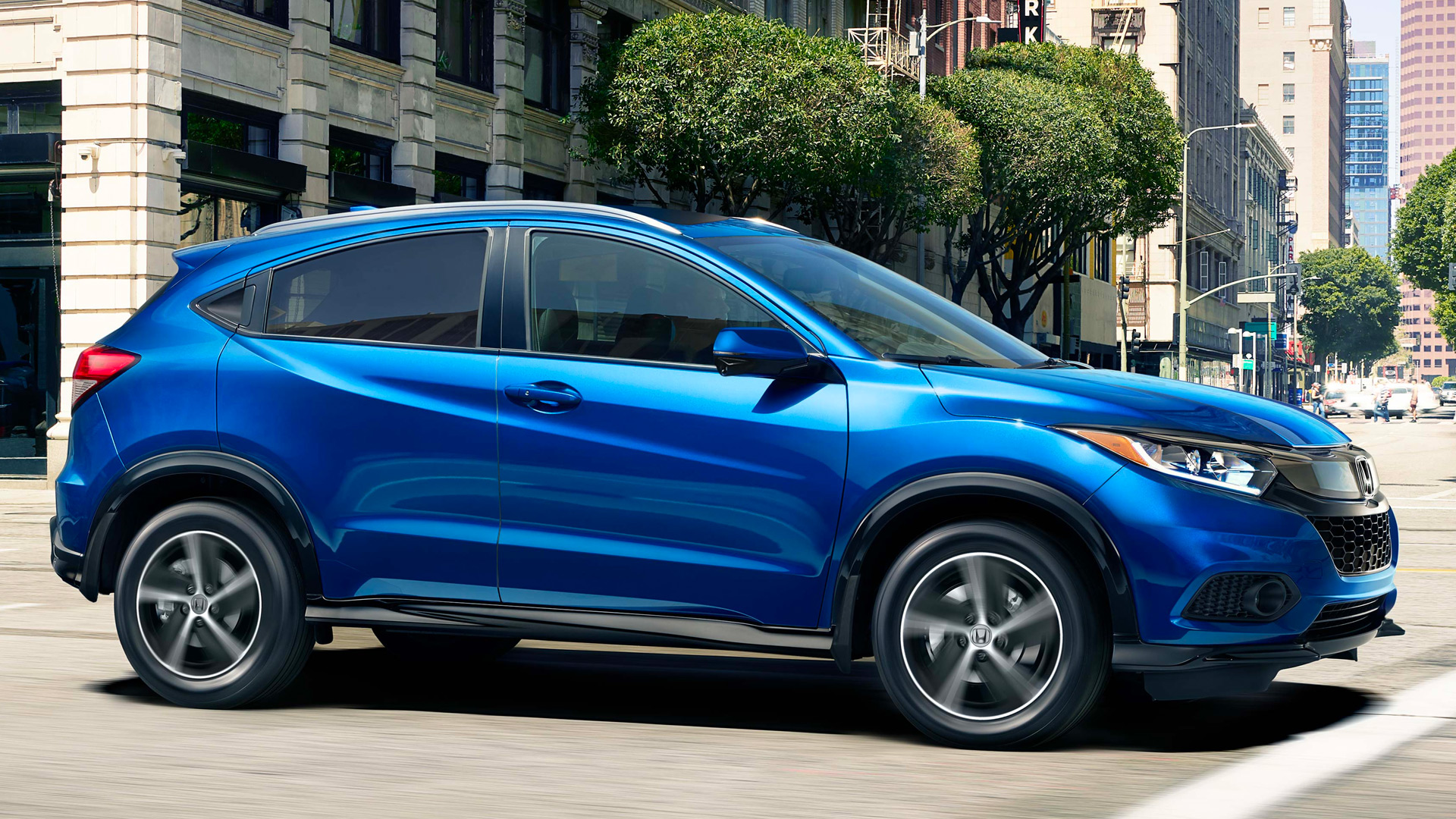 2020 Hrv Blue On Street